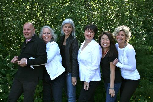 Dena's Employees L-R Tommy G, Vange, Lizzie, Tawnie, Darcy & Dena(shop owner)
