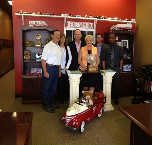 State FArm Agent Fran Farias received 20 year Crystal Excellence Award
