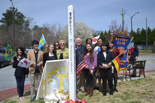 Working with the youth - Interact Club at Riverwood International Rotary's PEACE POLE