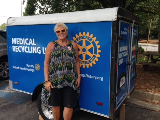 20 year Rotarian - Rotary Club of Sandy Springs  Community Service project recycles Medical Equipment