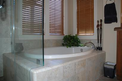 relaxing bathtub in bathroom remodel