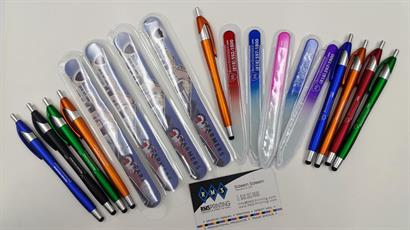 Brian Berce Insurance Agency, Inc. hired us to provide promotional products like our colorful stylus pens, foam nail files as well as glass nail files.