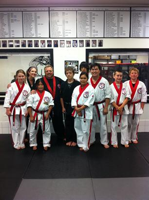 Black Belt Team visting Grandmaster Cox's Americas Best Karate