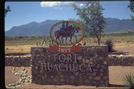 Fort Huachuca Main Gate sits to Sierra Vista's west.