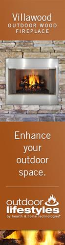 Villawood Outdoor woodburning fireplace