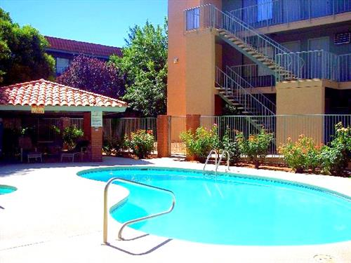 Relax pool side or take a dip in our pool and spa!