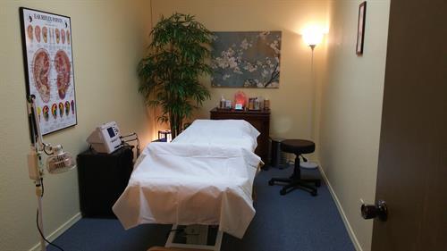 Calming treatment room