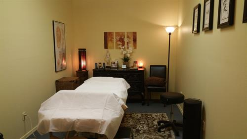 Peaceful treatment room
