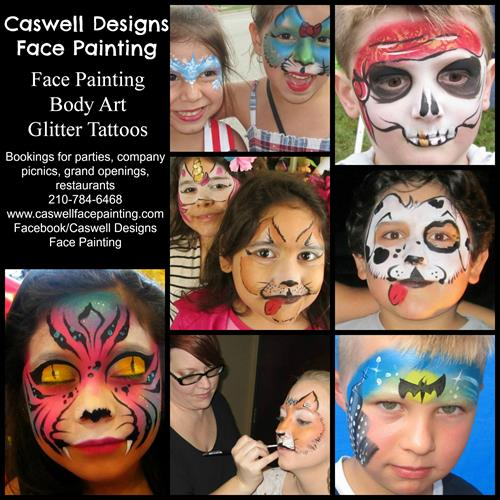 Caswell Designs Face Painting on Kids Eat Free Thursdays - See 3009 Facebook for more details & dates/times