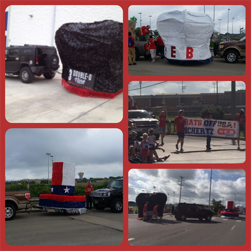 HEB Plus! and 3 Double O-Nine Restaurant and Bar Float 4th of July 2105 Parade