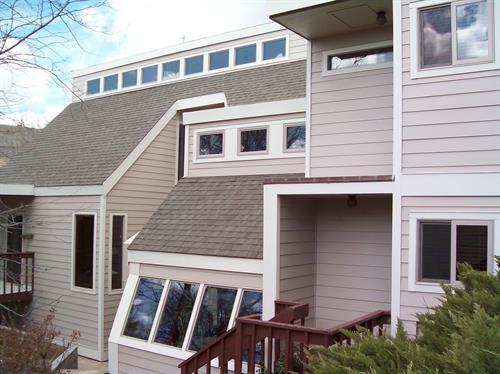 James Hardi cement siding , installed Wood Windows inc.
