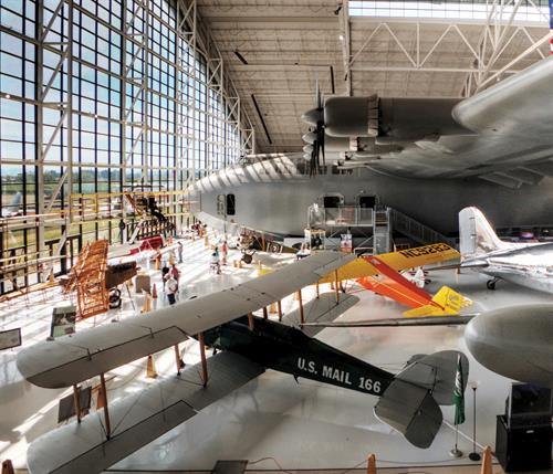 Inside of the Aviation Museum
