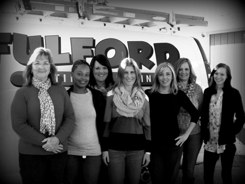 The ladies of the office:Teresa, Dee, Rebecca, Tiffany, Temple, Wanda and Kaytie.