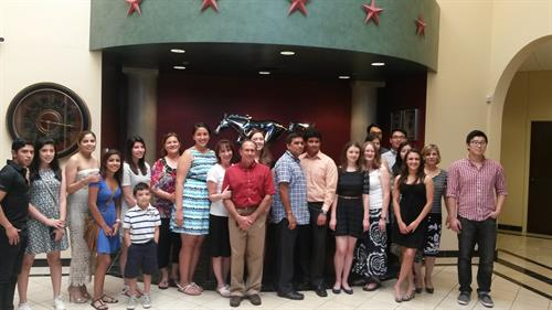 Scholarship Winners and Families 2015