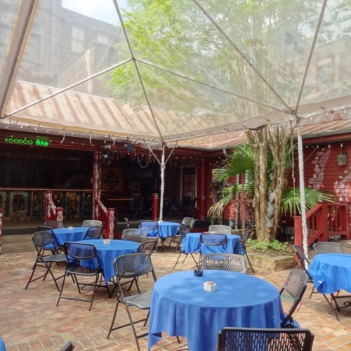 Voodoo Garden courtyard for dining and drinks
