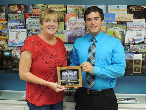 James Imaging Consultant Ryan Conklin with Chamber Ambassador Coral Becker