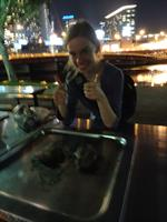 Kangaroo Steak on a Public Barbie- we ate it with our hands, like a boss. Melbourne, Australia