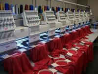 Just a few of our embroidery machines
