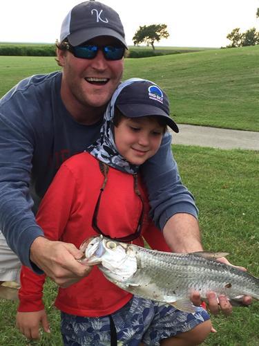 Baby Tarpon caught locally on St. Simons Island, Ga