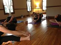 A quiet moment at the end of Power Flow Yoga