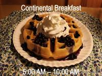 Homemade Waffles with Maine Wild Blueberries