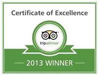 2011 - 2012 & 2013 Trip Advisor Excellence Awards