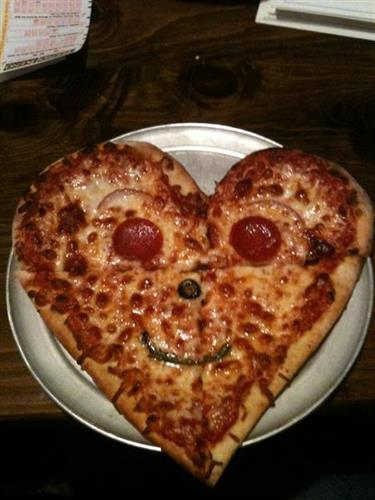 Valentine's pizza