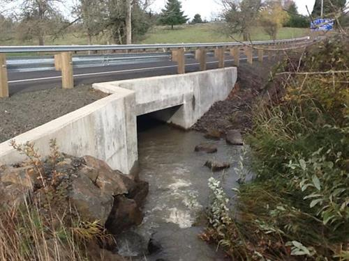 ODOT Box Culvert Hwy 213 Completed