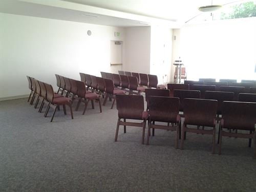 Grace Reception Center serves as chapel space and also for receptions.