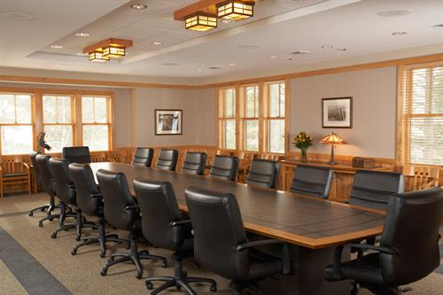 Our boardroom is just one of many meeting spaces, totalling 10,000 square feet!