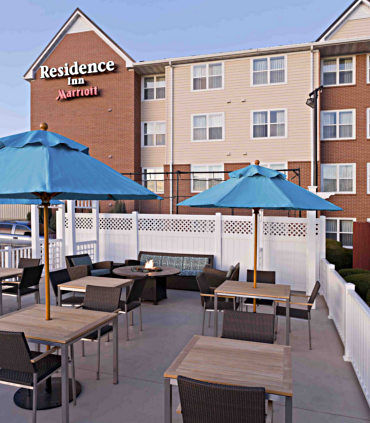 Enjoy our outdoor patio and basketball court.