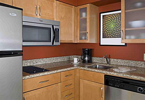 All of our 94 suites include a full kitchen!
