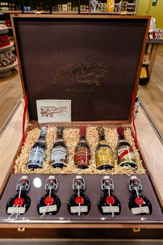 A luxury gift set created by Luciano Pavarotti - aged baslsamics from 400 year old casks!