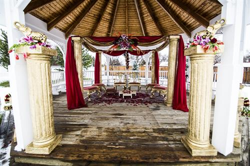 Gazebo with Indian Decor