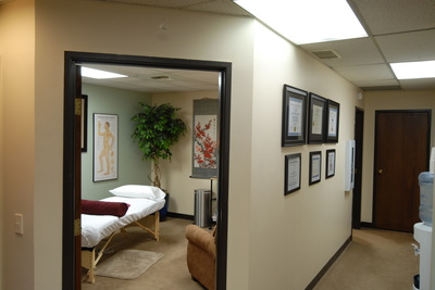 Section of our space with view of second treatment room