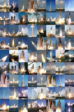 Shuttle Launches Montage