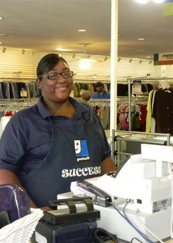 Kimberly Eberheart, Goodwill employee and success story