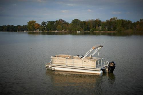 2- 2014 Crest Pontoons with 115 HP motors and Ski Bars
