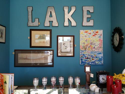 Collectible Lake Signs Depression Glas