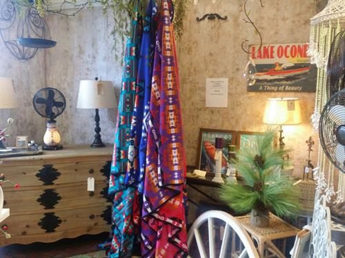 Reclaimed Chest Navajo Blanket Lake Oconee Sign