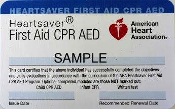 CPR and First-aid training