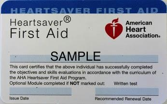 First-aid certification training