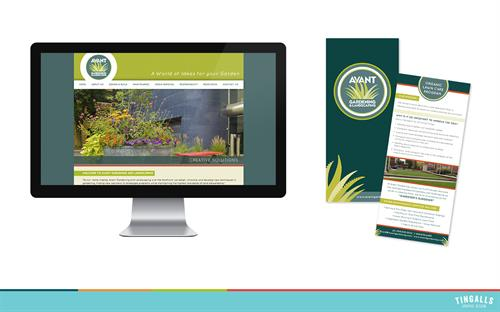 Website design and print collateral for Avant Landscaping