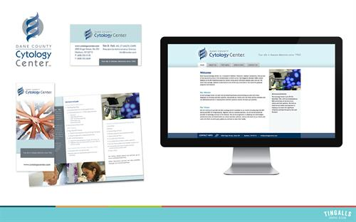 Logo design, print and website design for Dane County Cytology Center