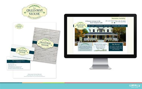 Logo design, folder design and website for Greenway House Bed & Breakfast