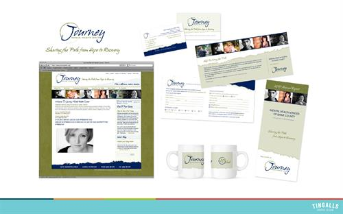 Logo redesign, print collateral and website design for Journey Mental Health Services