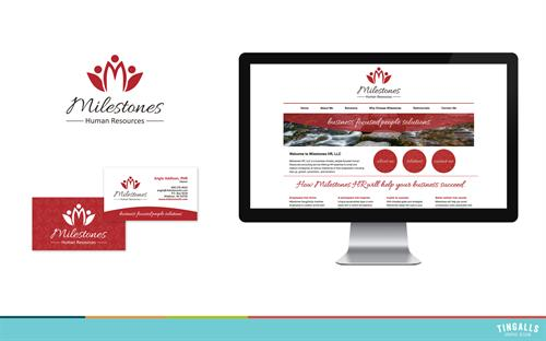 Logo design, business cards and website for Milestones Human Resources