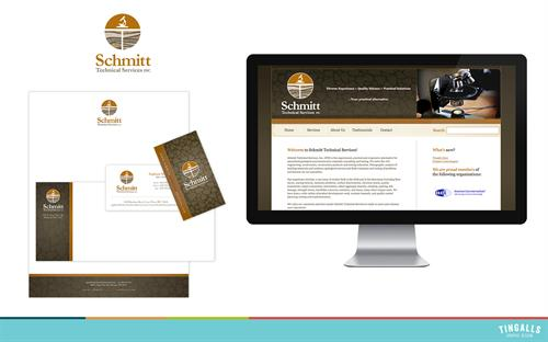 Logo design, print collateral and website design for Schmitt Technical Services