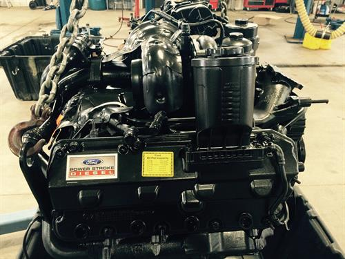 A 6.4L Diesel Engine being replaced, here is the refurbished