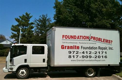 Granite Foundation Repair 6 person crew truck